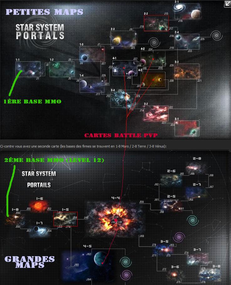 darkorbit petite map et grande map