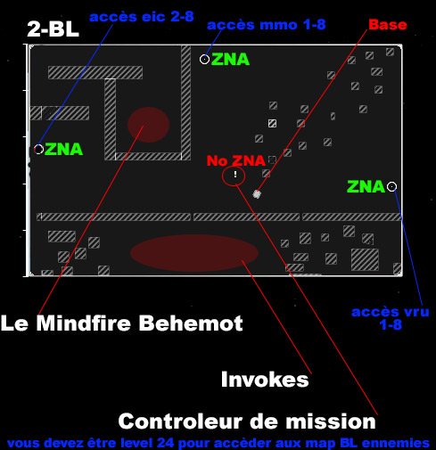 plan de la map et infos blacklight 2-BL